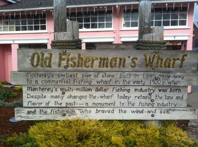 Wharf sign