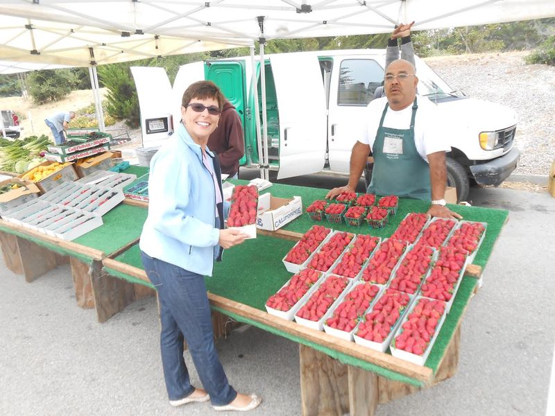 Dr. Jeanette Kern and Strawberries!