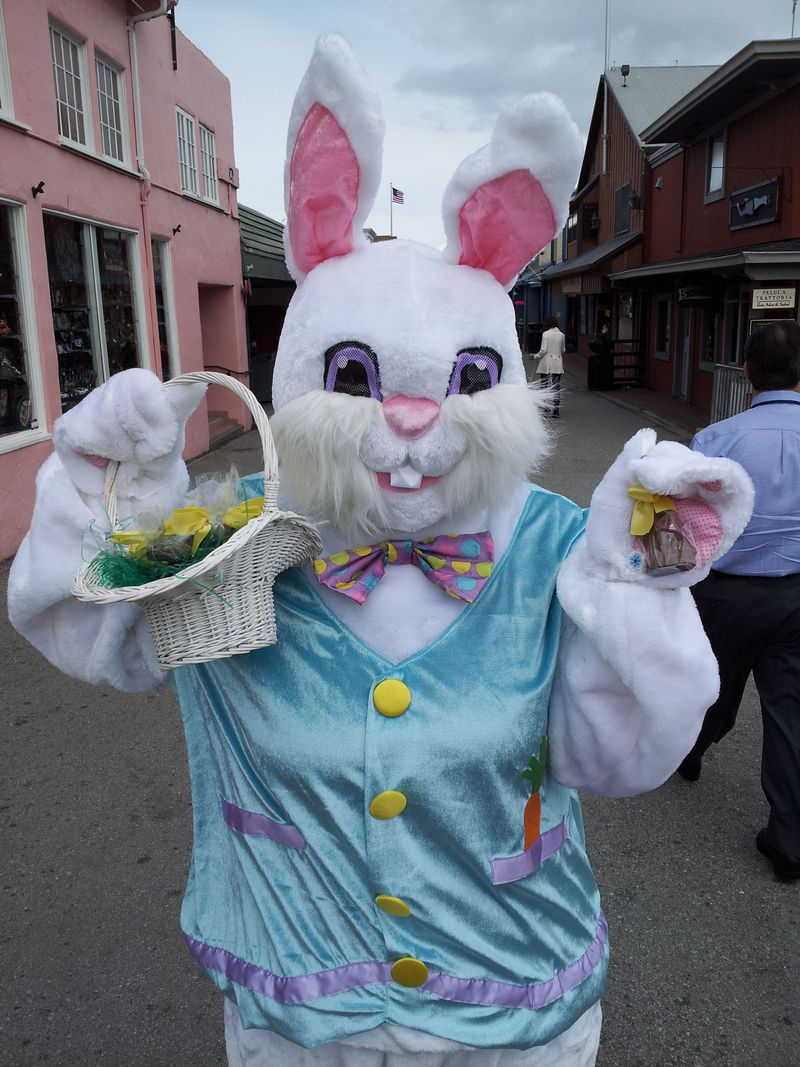 Easter Bunny at Monterey's Old Fisherman's Wharf (2)