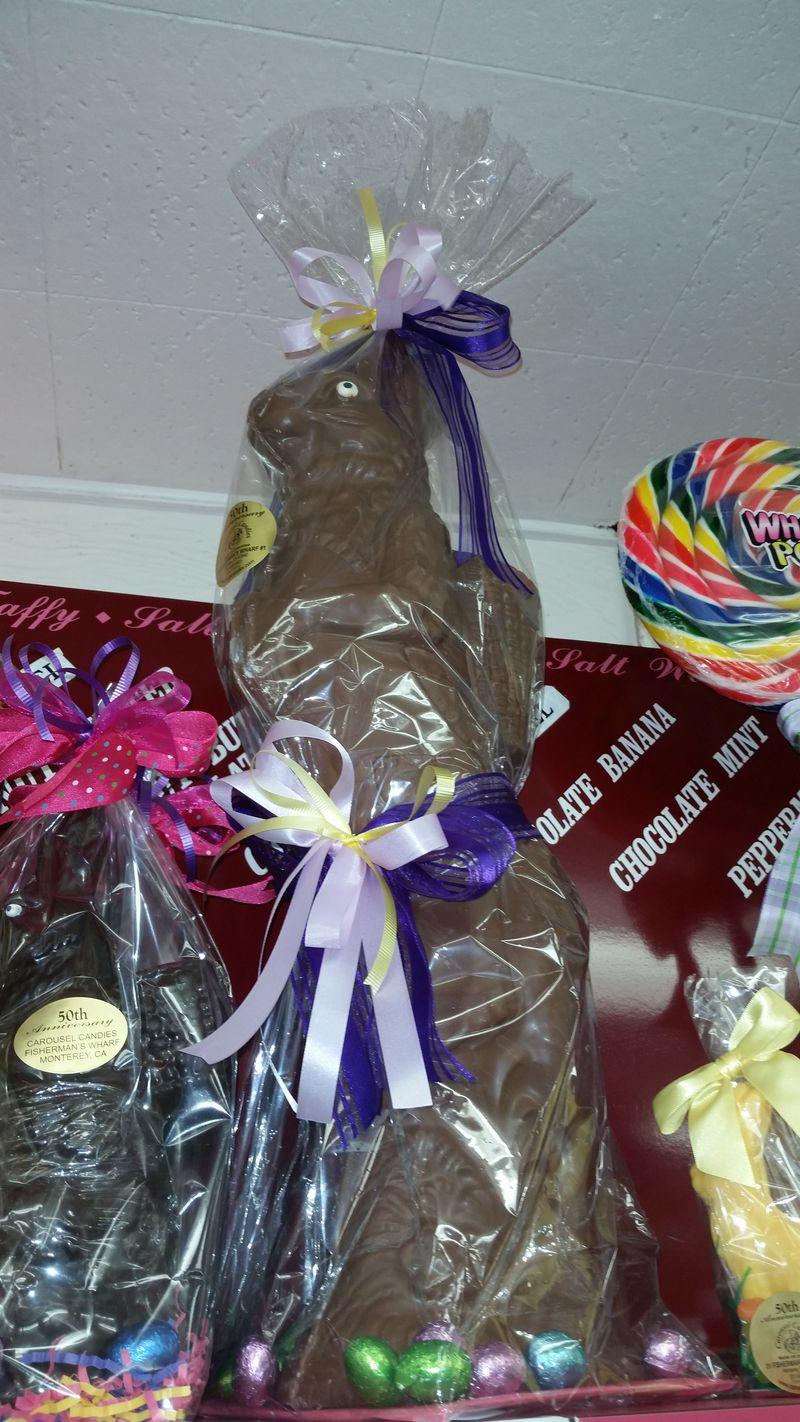 3 foot chocolate bunny wowx