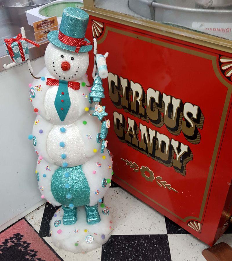 Carousel snowman xmas 2a