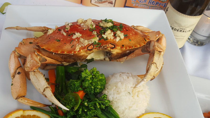 Crab at Scales Seafood & Steaksxxxx