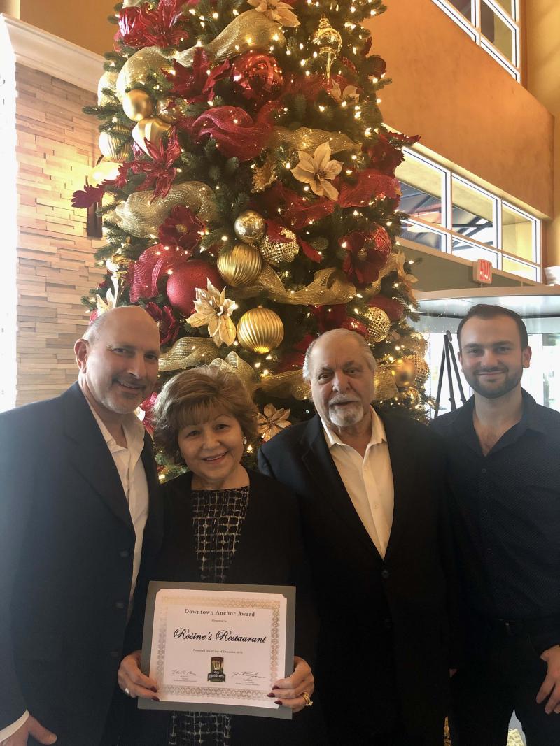 Jim Culcasi  Jr. Rosine Culcasi. Jim Culcasi  Jr. John Culcasi at Rosines Restaurant